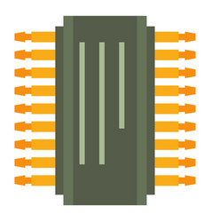 Transistor icon cartoon style vector