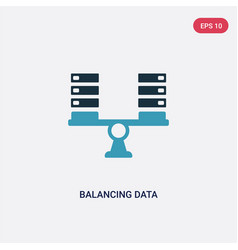 Two color balancing data icon from networking vector