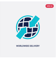 two color worldwide delivery icon from delivery vector image