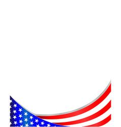 usa flag wave pattern frame vector image