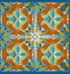 vintage floral seamless pattern light blue vector image