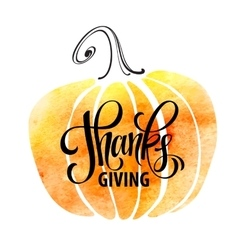 Watercolor design style Happy Thanksgiving Day vector image