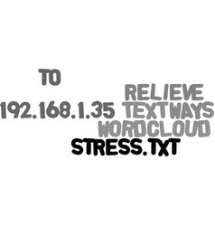 Ways to relieve stress text word cloud concept vector