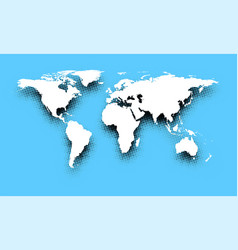 White abstract world map on blue vector