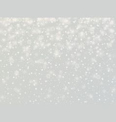 winter background with snowflakes vintage vector image