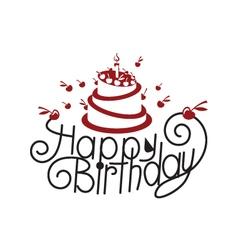 birthday card design vector image vector image
