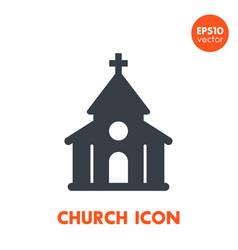 church icon over white vector image