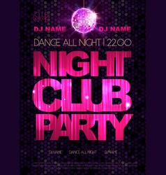 Disco background disco poster night club dance vector