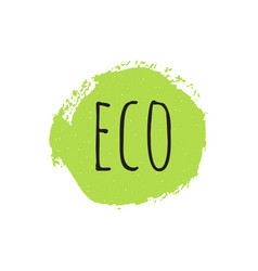 eco round stamp logo or sign vector image vector image