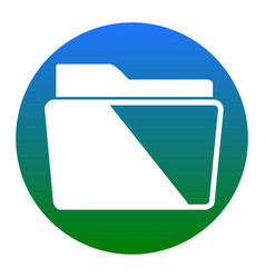 folder sign white icon in vector image