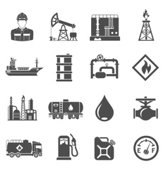 Oil industry Icons Set vector image vector image