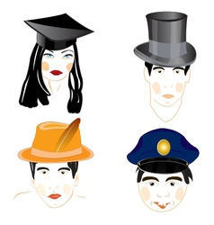 Persons of the people in headdresses vector image