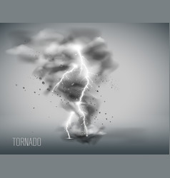 tornado on a simple background vector image vector image