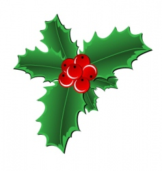 Christmas holly border vector image vector image