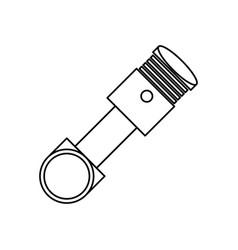engine piston isolated vector image