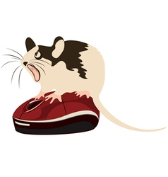 mouse on a computer mouse vector image