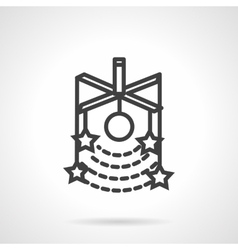 Stars model simple line icon vector image vector image