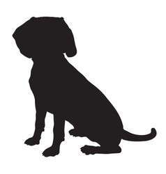 beagle silhouette vector image vector image