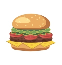 Burger icon cartoon style vector image vector image