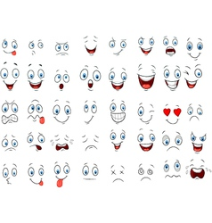 Cartoon of various face expressions vector image vector image