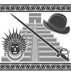 Conquista second variant stencil vector image vector image