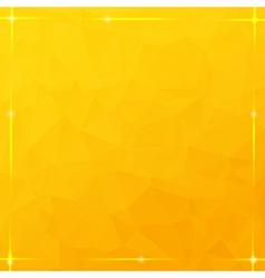 Glowing thread border on orange triangular vector image