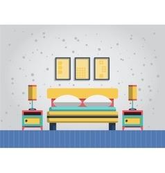 interior of bedroom vector image