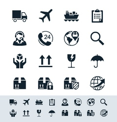 Logistics and shipping icon set simplicity theme vector image vector image