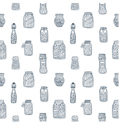 monochrome seamless pattern with pickled vector image