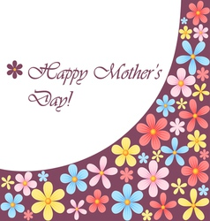 Mothers day card with flowers vector image vector image