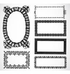 ornate frame set vector image