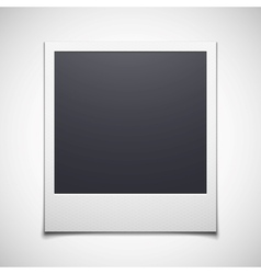 Photo frame isolated on white background vector image vector image
