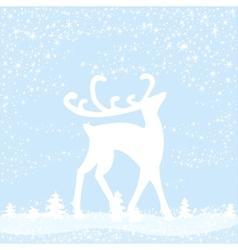 reindeer in forest vector image