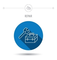 Repair toolbox icon Wrench key sign vector image vector image