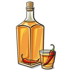 spicy vodka vector image vector image