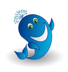 whale smiling vector image