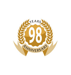 98 years ribbon anniversary vector image vector image