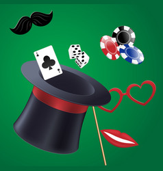 casino party set of accessories vector image vector image
