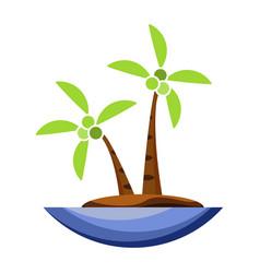 coconut tree icon cartoon vector image