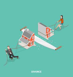 divorce flat isometric concept vector image