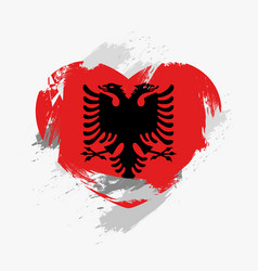 flag of albania vector image vector image