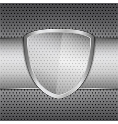 Glass Shield vector image vector image