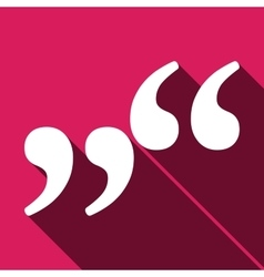 Quote icon isolated vector image