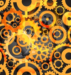 Seamless background or different gear wheels vector image
