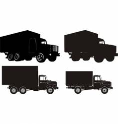 set of truck illustrations vector image vector image