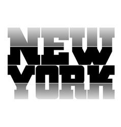 T shirt graphics New York vector image vector image
