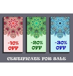 -10 -20 and -30 rate sale tags with flowery vector