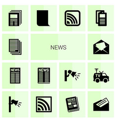 14 news icons vector