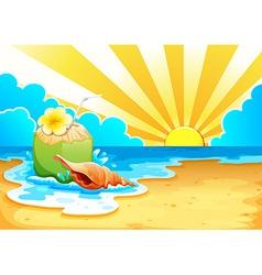 A beach vector image