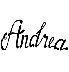 andrea name lettering vector image
